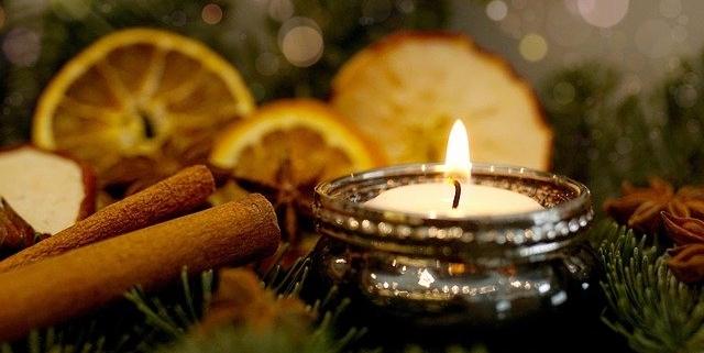 Bild mit Kerze